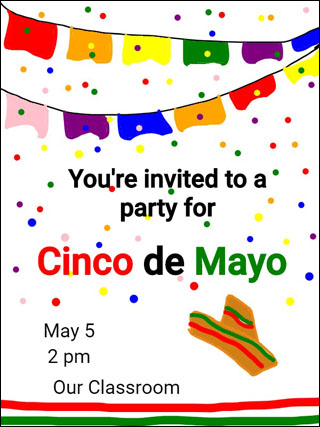 image of sample invition to Cinco de Mayo celebration