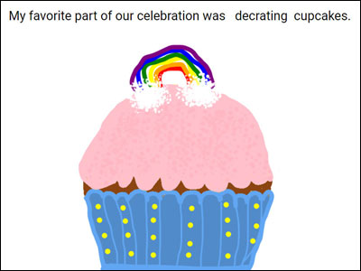 image of student illustration of favorite part of the celebration