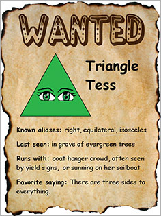 Triangle Wanted Poster student sample
