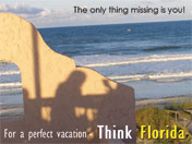 Florida Beach Travel Advertisement - Ocean View
